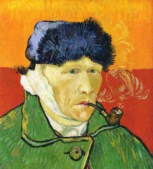 Van gogh autoportrait a l 39 oreille coupee - Vincent van gogh autoportrait a l oreille coupee ...